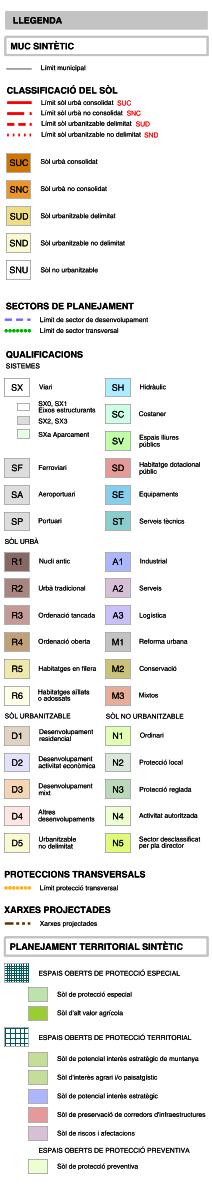 Mapa Urbanístic De Catalunya.Mapa Urbanistic De Catalunya